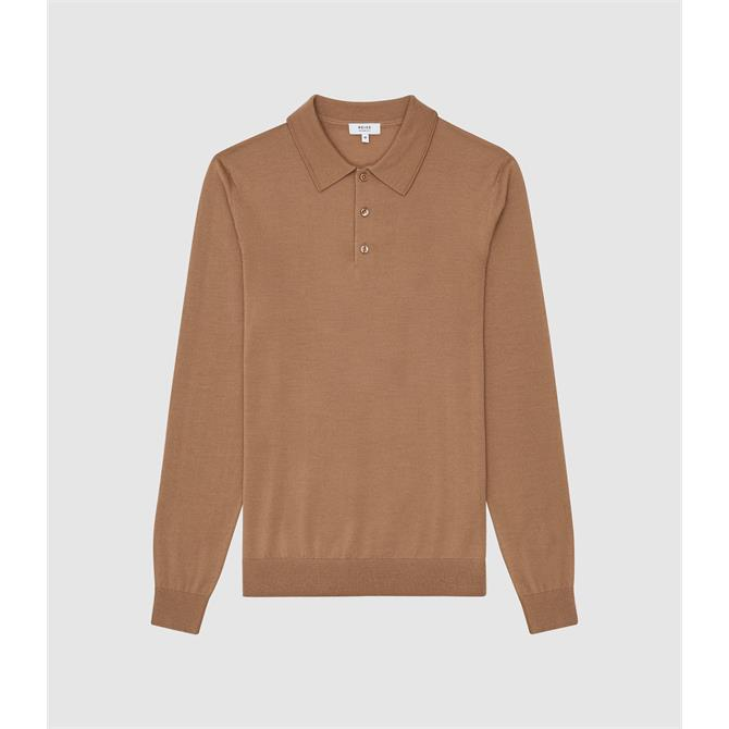REISS TRAFFORD Merino Wool Polo Shirt