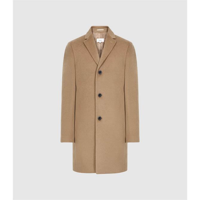 REISS GABLE Wool-blend Epsom Overcoat