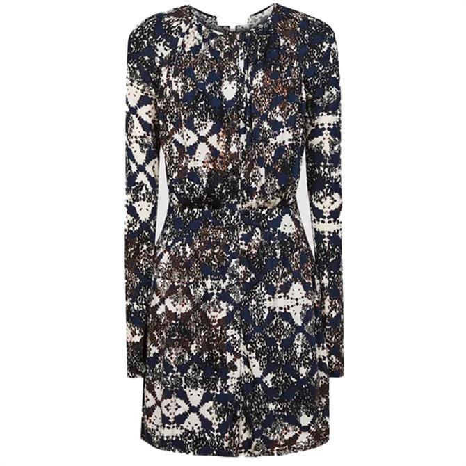 REISS ANTONIA Snake Print Jersey Dress