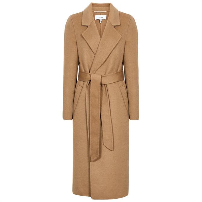 REISS BROOKS Wool Blend Longline Overcoat