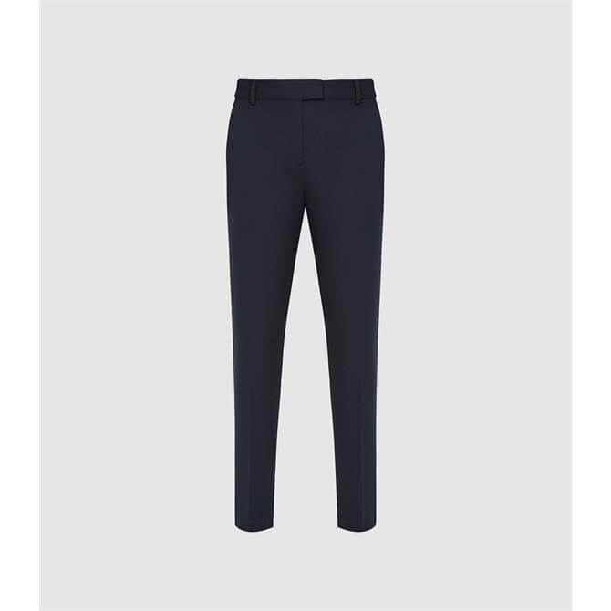 REISS JOANNE Slim Fit Tailored Trousers Navy