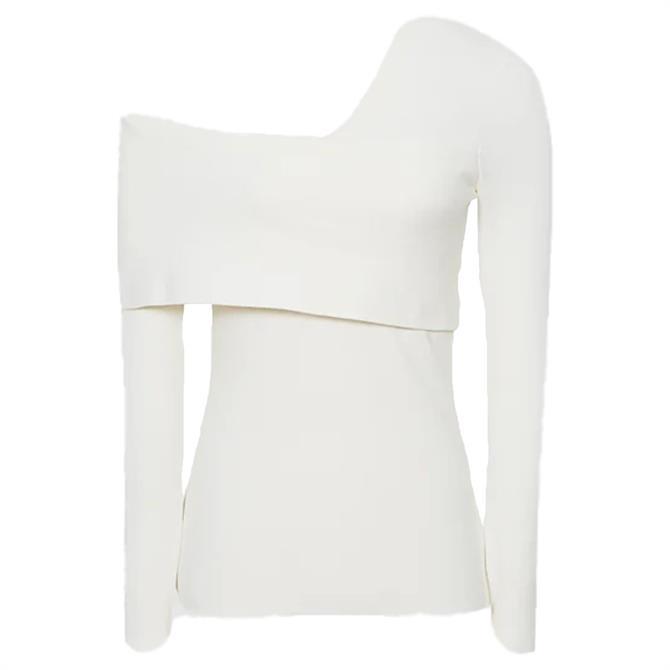 REISS ELIAH Knitted Asymmetric Top