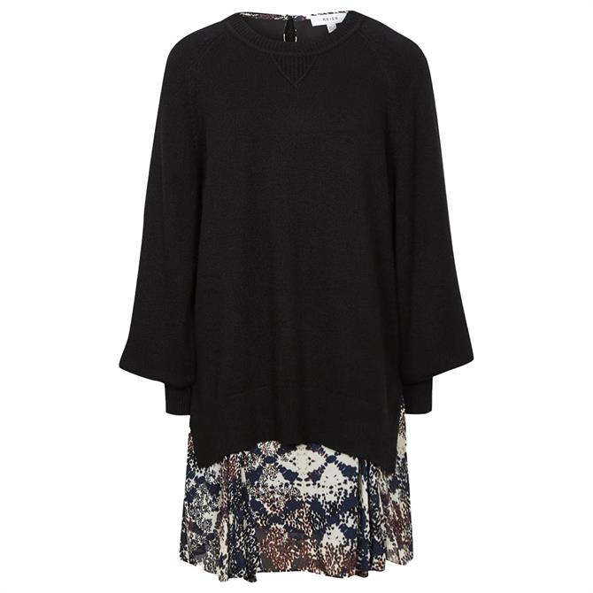 REISS MIA 2 In 1 Fine Knit Jumper And Printed Dress