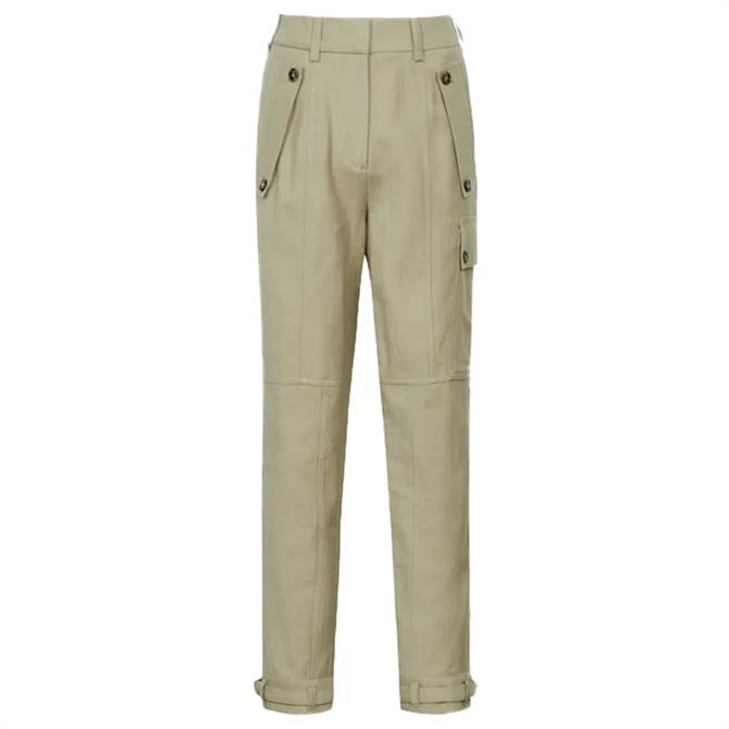 REISS NEWLYN Wool Blend Twill Cargo Trousers