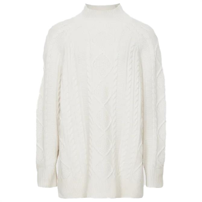 REISS NINA Cable Knit Tunic Jumper