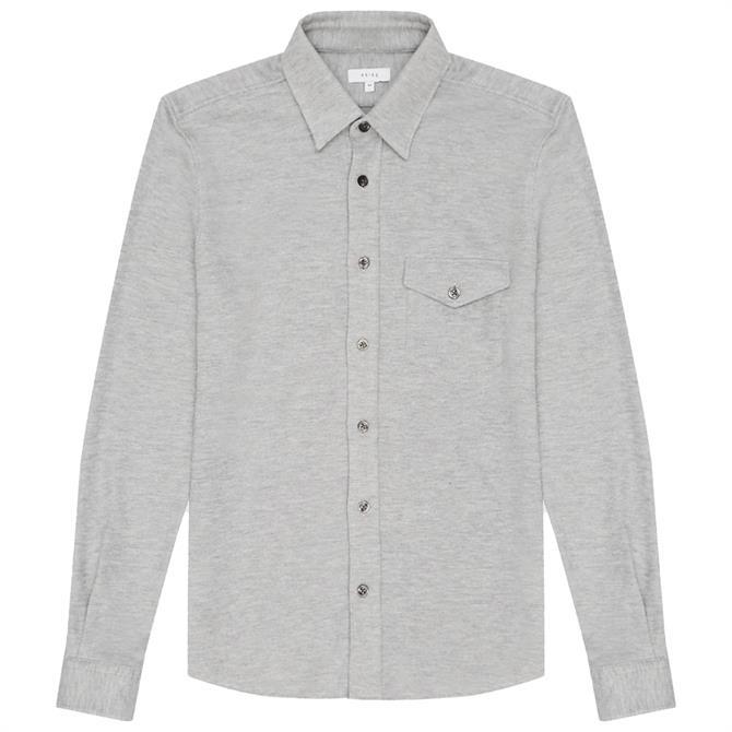 REISS SCOTT Textured Jersey Overshirt