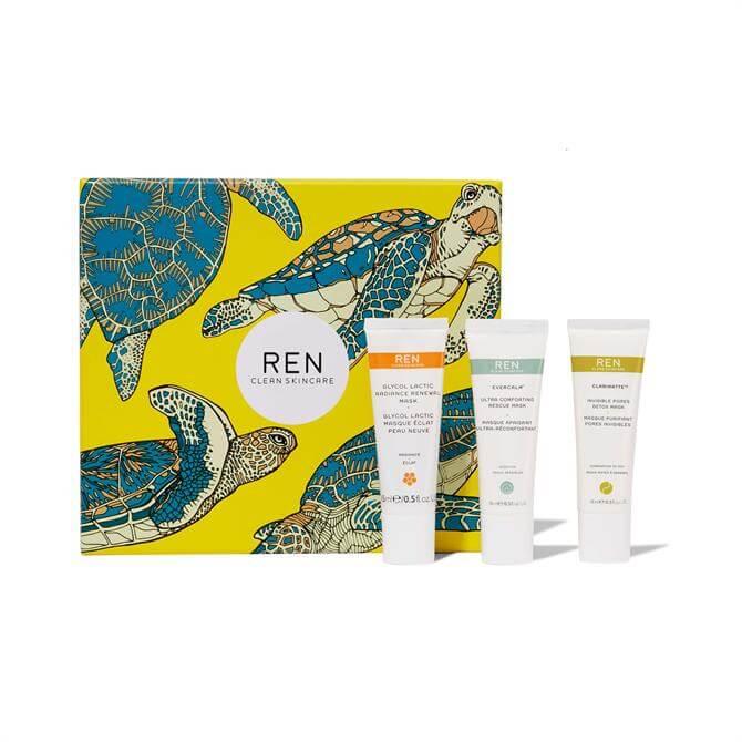 REN Clean Mask Trio Set- x3 Face Maks 15ml