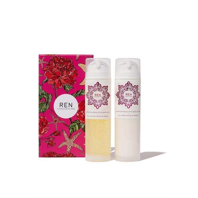 REN Moroccan Rose Otto Body Duo- x2 200ml