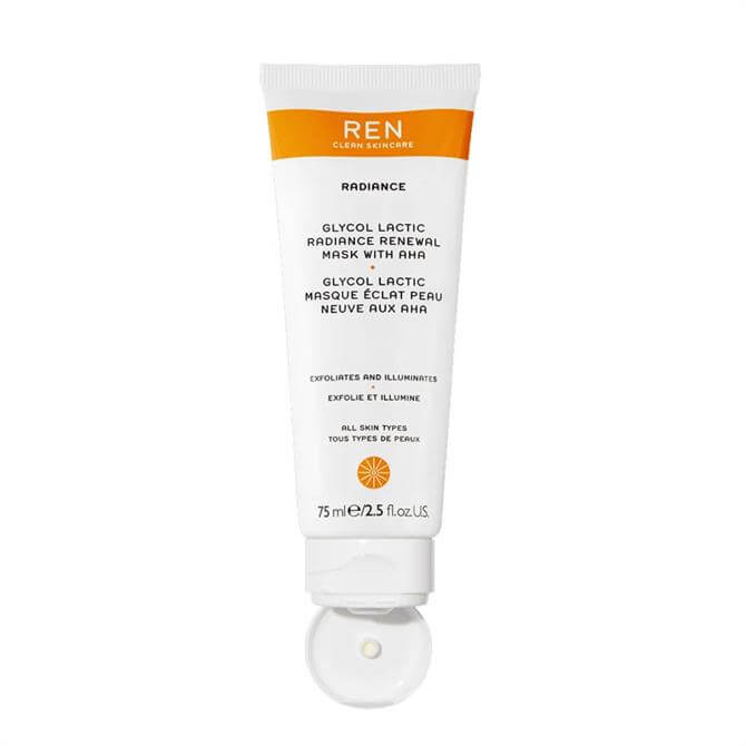 REN Supersize Radiance Glycol Lactic Renewal Mask 75ml