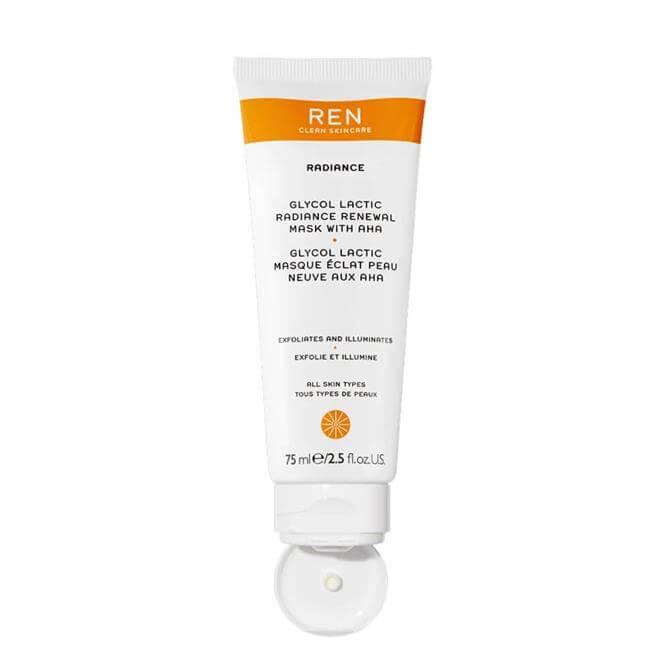 REN Supersize Radiance Glycol Lactic Renewal Mask 75ml