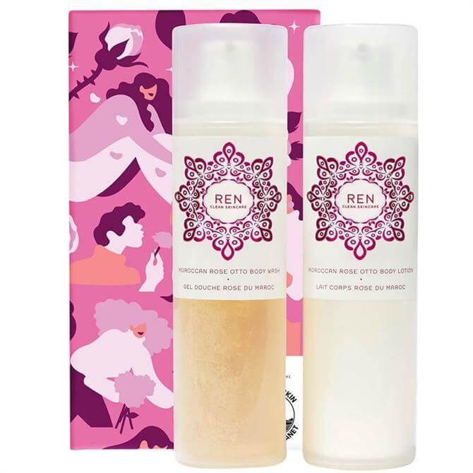 Ren Clean Skincare Body Bliss Rose Duo Gift Set
