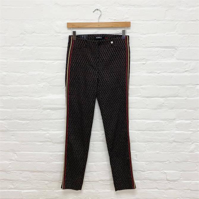 Robell Rose Geometric Trouser Super Slim Fit