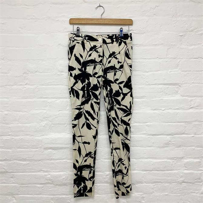 Moutaki Black and White Print Trousers