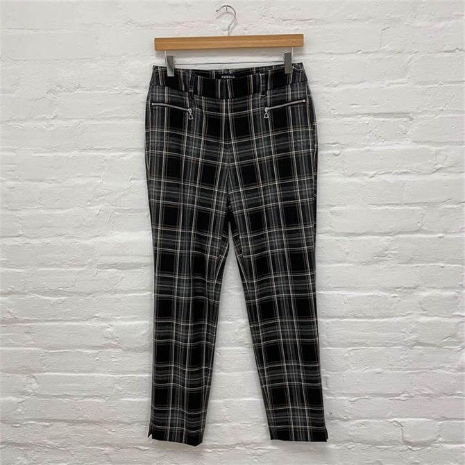 Robell Mimi Checked 75cm Trousers