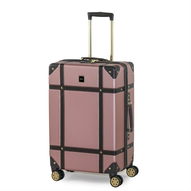 Rock Luggage Vintage 4 Wheel Large Hard Suitcase