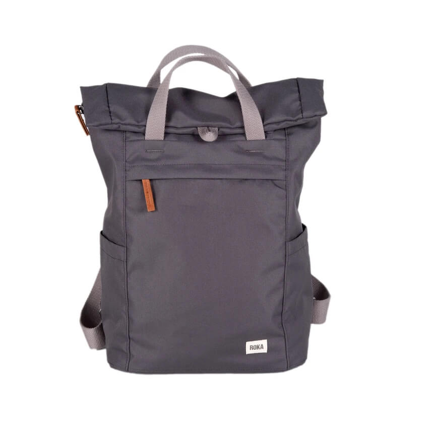 An image of ROKA Finchley Sustainable Backpack - MEDIUM, CARBON