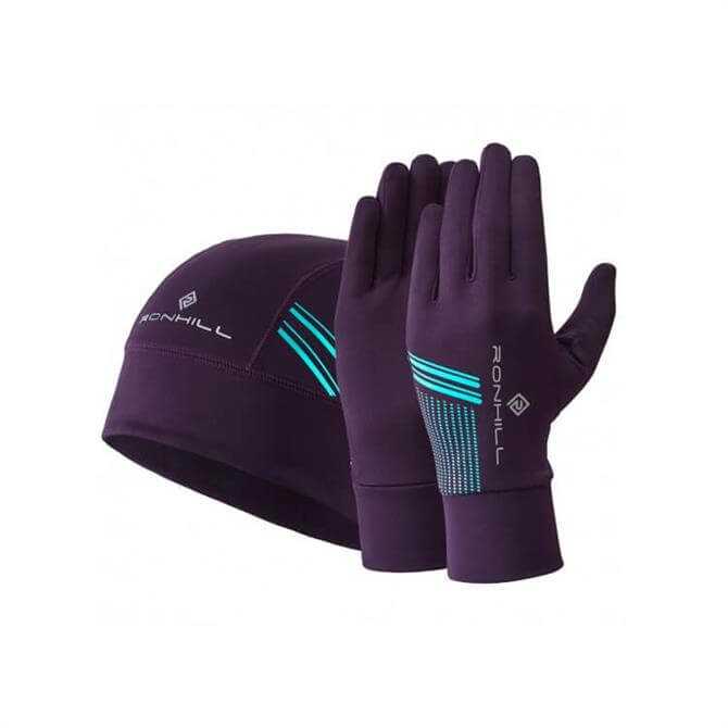 Ronhill Beanie & Glove Set - Berry