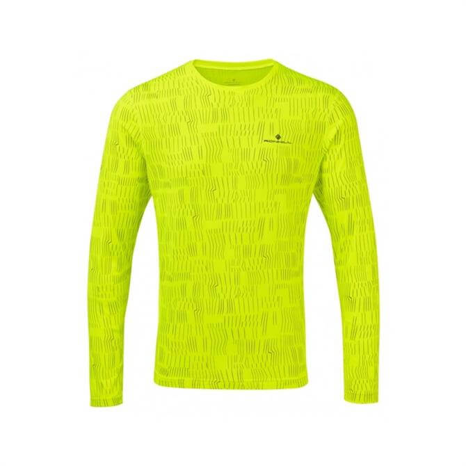 Ronhill Men's Momentum Long Sleeve Top - Fluo Yellow