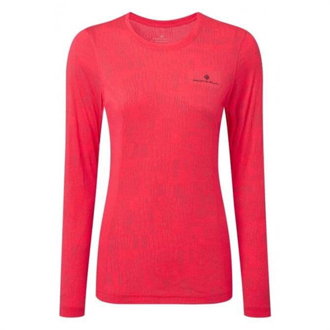 Ronhill Women's Momentum Long Sleeve Top - Fluo Pink