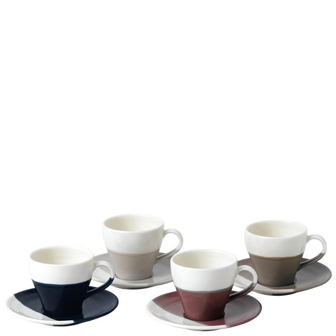 Royal Doulton Coffee Studio Espresso Cup and Saucer Set of 4