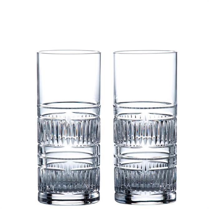 Royal Doulton Radical Set of 2 Hi Ball Glasses