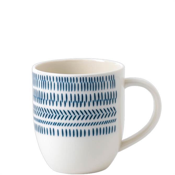 Royal Doulton Ellen DeGeneres Cobalt Blue Chevron Mug