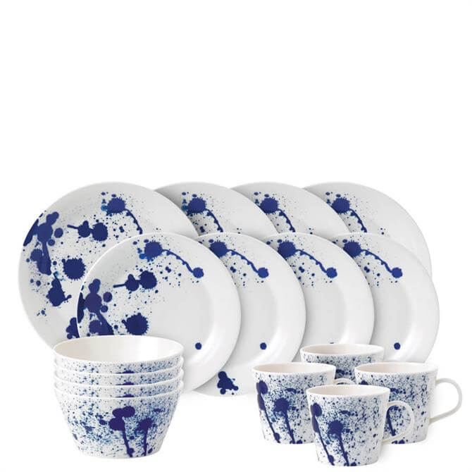 Royal Doulton Pacific Blue Splash 16 Piece Dinner Set