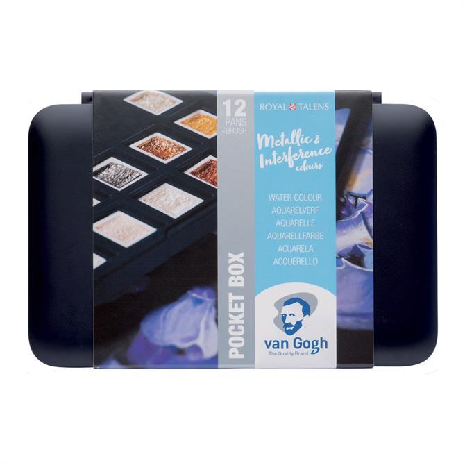 Royal Talens van Gogh Metallic Watercolours Pocket Box