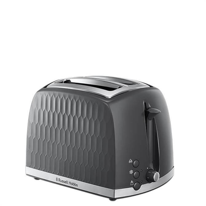 Russell Hobbs Honeycomb Grey 2 Slice Toaster