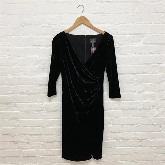 Adrianna Papell Black Velvet Dress