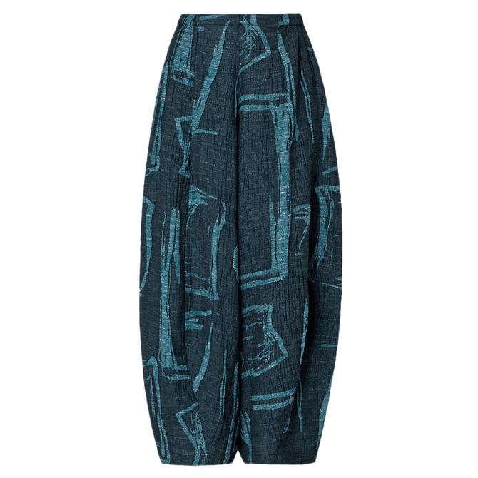 Sahara Abstract Print Tweed Trouser