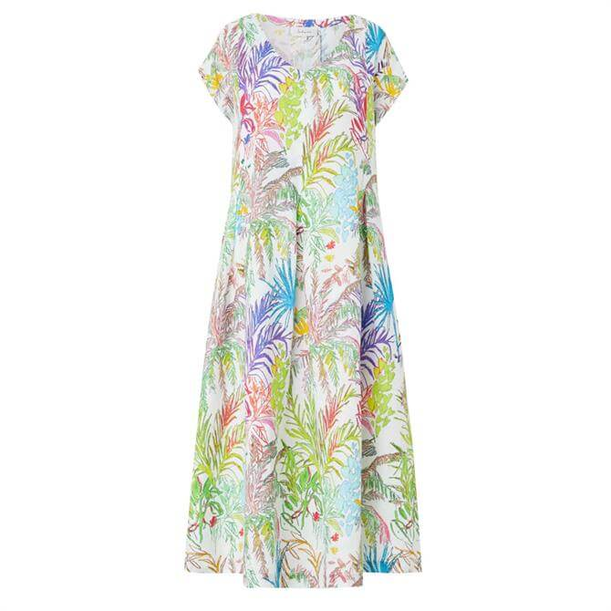 Sahara Chalk Jungle Linen Dress
