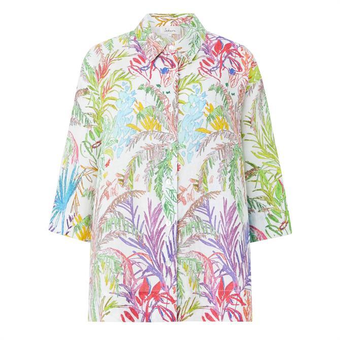 Sahara Chalk Jungle Linen Shirt