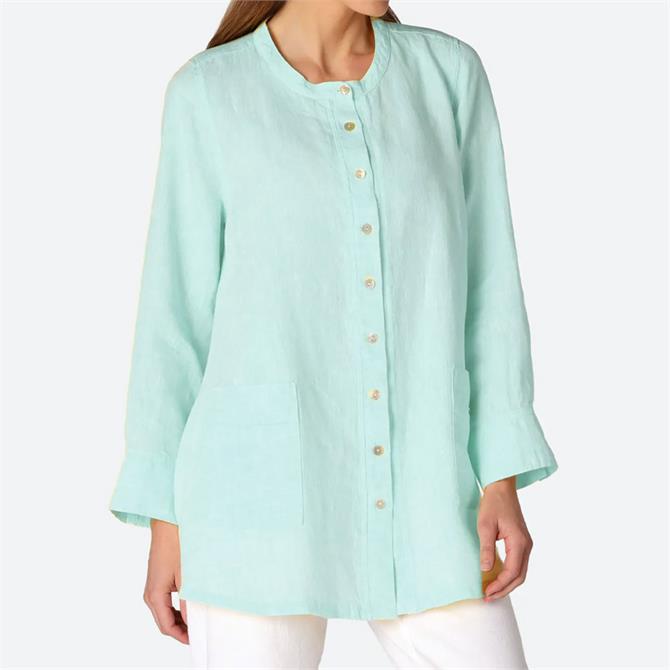 Sahara Chambray Linen Flared Shirt