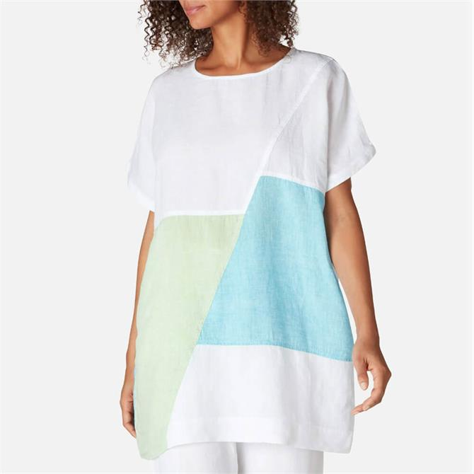 Sahara Chambray Linen Patch Tunic