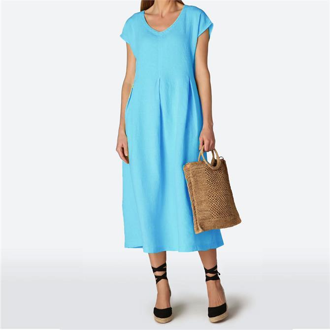 Sahara Linen Pleat Detail Dress