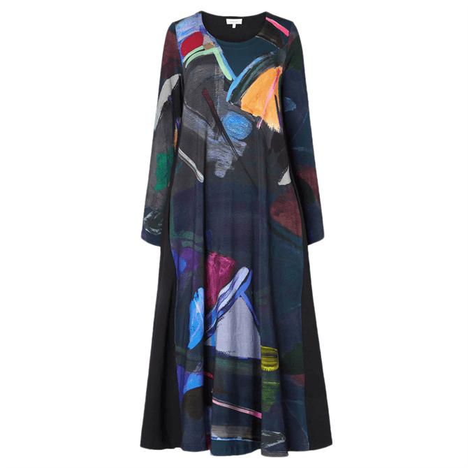 Sahara Paintbox Print Jersey Dress