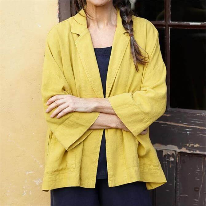 Sahara Textured Linen Boxy Fit Jacket