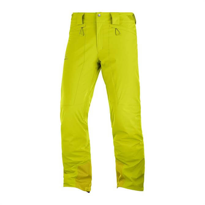 Salomon Men's IceMania Ski Pants - Lime