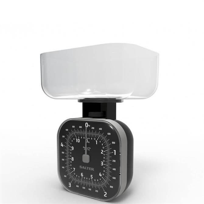 Salter Cube Mechanical Black Kitchen Scale