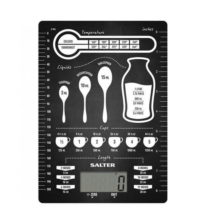 Salter Conversions Black Digital Kitchen Scale