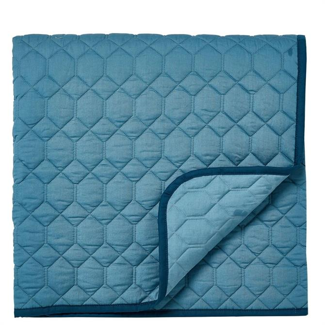 Sanderson Jackfruit/Palm House Quilted Throw