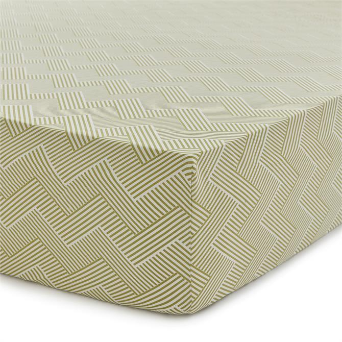 Sanderson Palm House Fitted Sheet