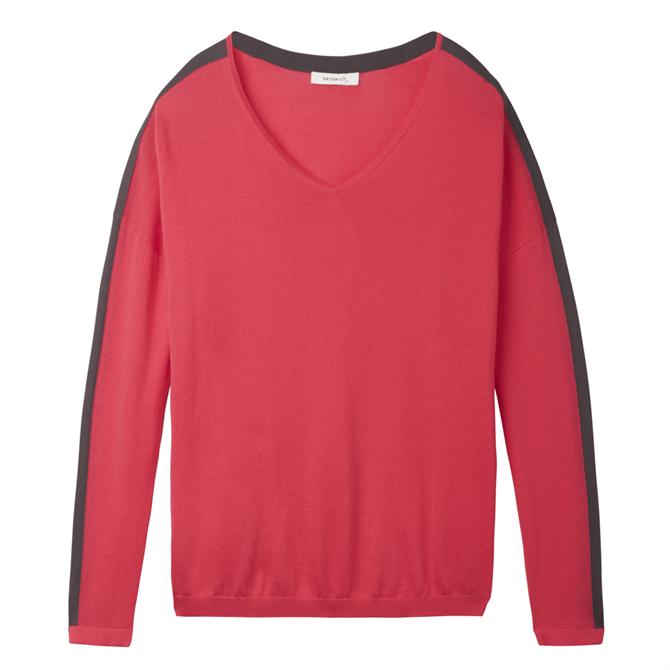 Sandwich Colour Block V-Neck Sweater