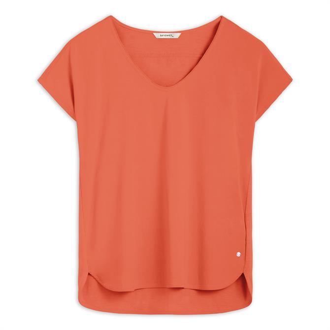 Sandwich Cotton V-Neck T-Shirt