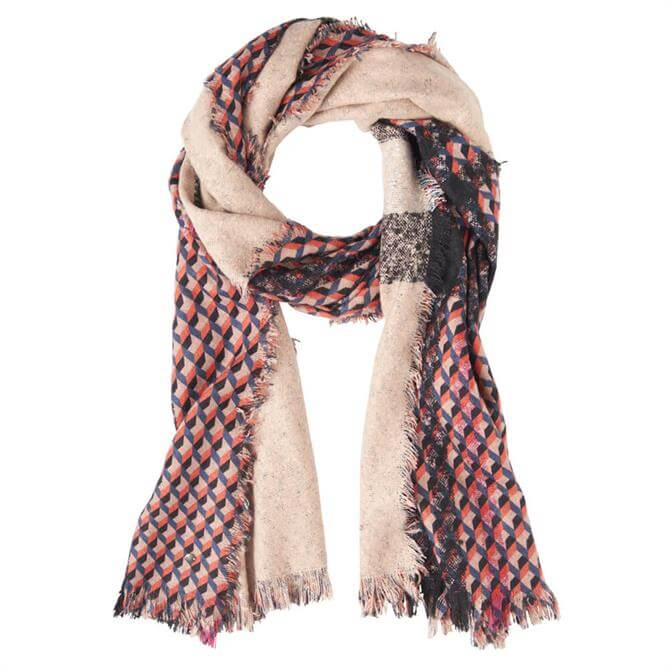 Sandwich Graphic Print Woven Scarf