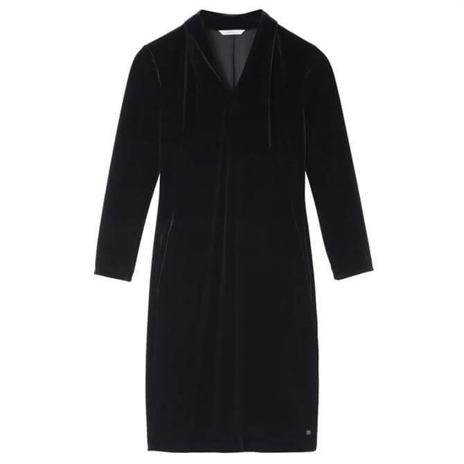 Sandwich Velvet High Collar Dress