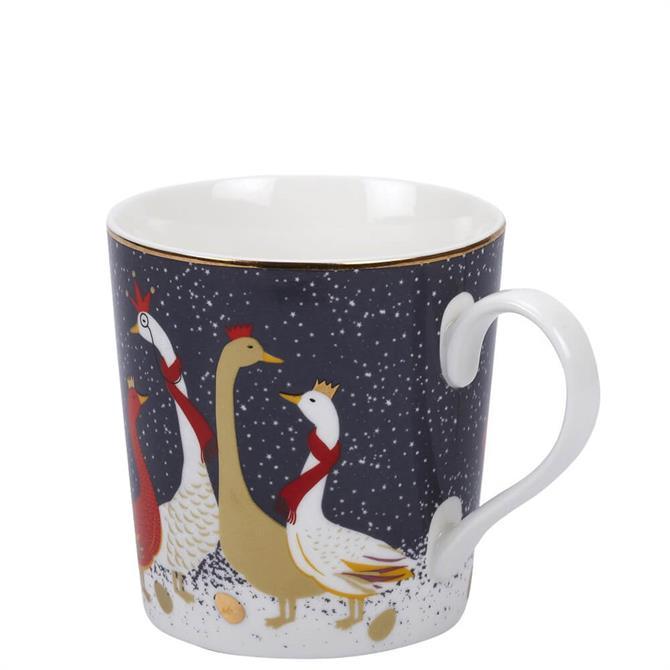 Sara Miller London Portmeirion Geese Christmas Mug