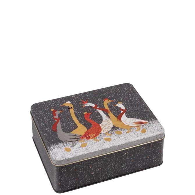 Sara Miller London Christmas Geese Deep Rectangular Tin