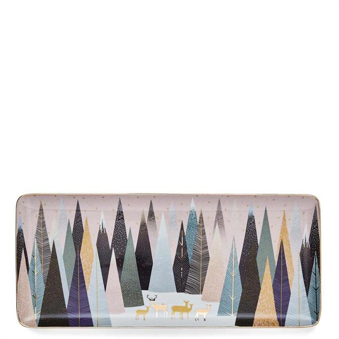 Sara Miller London Portmeirion Frosted Pines Sandwich Tray